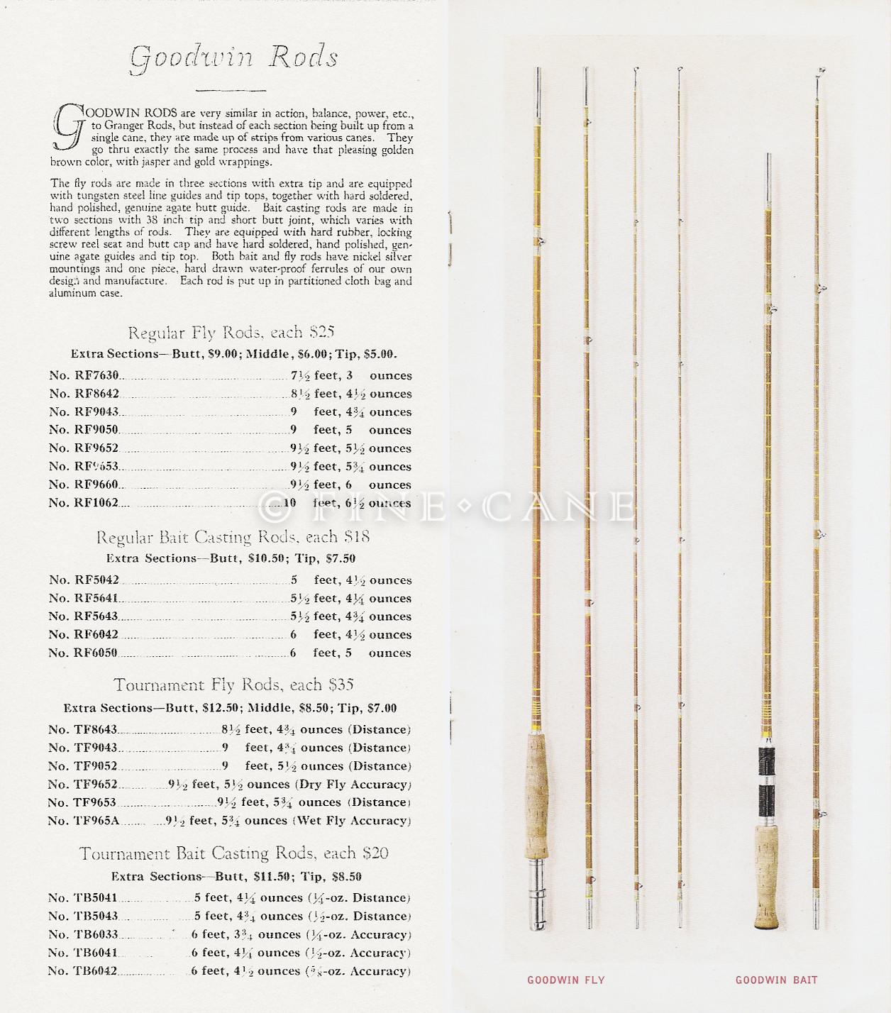1927 Goodwin Granger Catalog Goodwin Rods