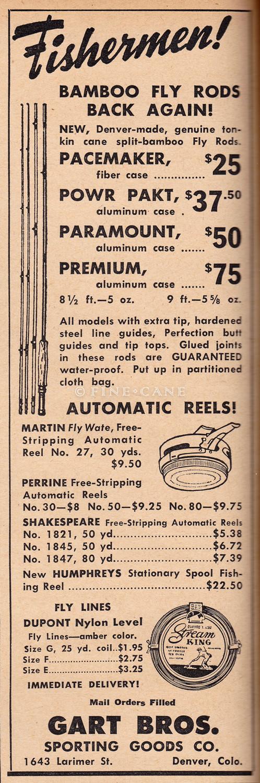 April 1947 Outdoor Life Gart Bros Ad