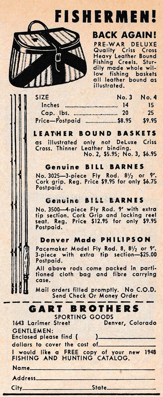 May 1948 Sports Afield Gart-Bros Ad