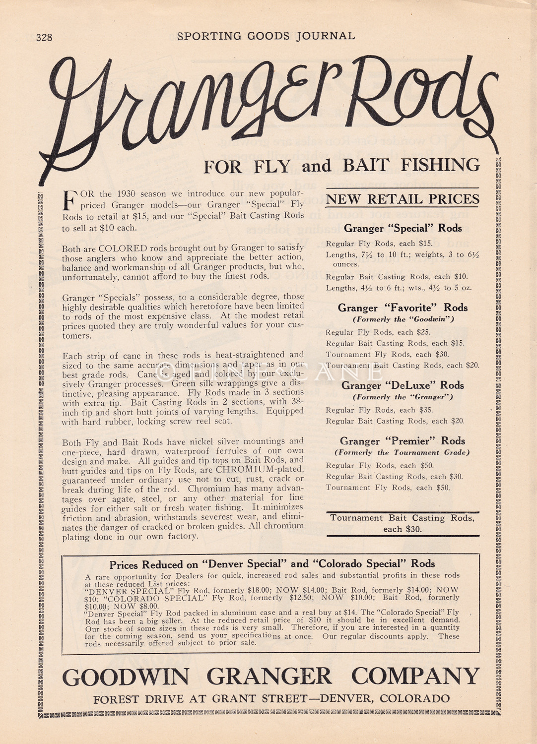 1930 Sporting Goods Journal Ad