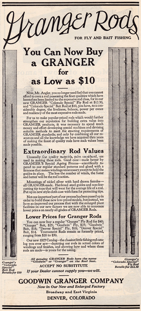 1927 Outdoor Recreation Granger Ad