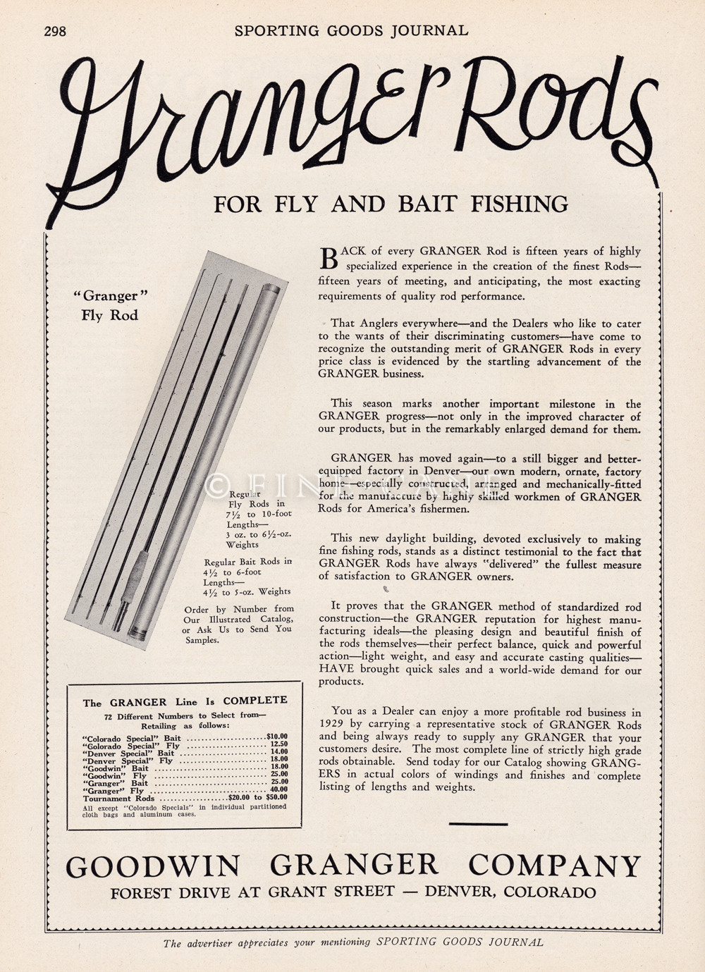 1929 Sporting Goods Journal Ad