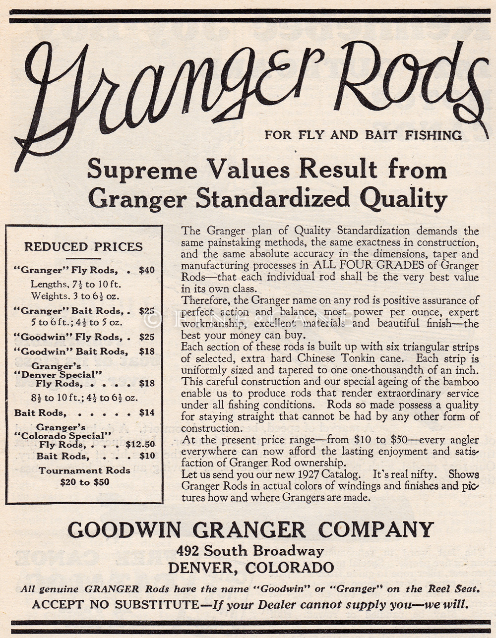 April 1927 Field & Stream Ad