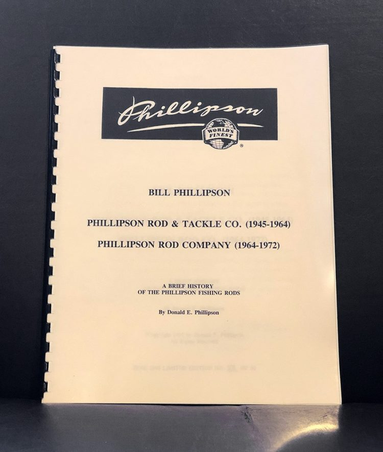 Phillipson fly rod history book